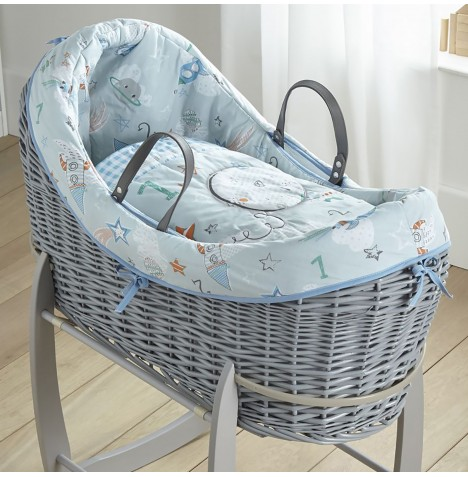 Clair De Lune Grey Wicker Wrapover Noah Pod - Forty Winks