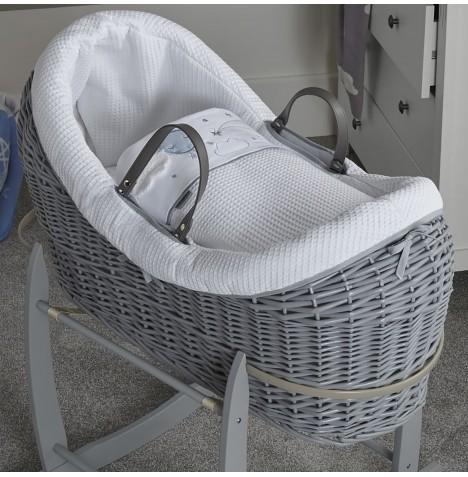Clair De Lune Grey Wicker Wrapover Noah Pod - Over The Moon Blue