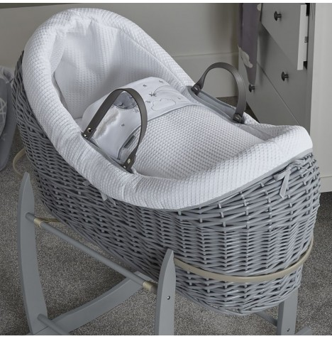 Clair De Lune Grey Wicker Wrapover Noah Pod - Over The Moon Grey