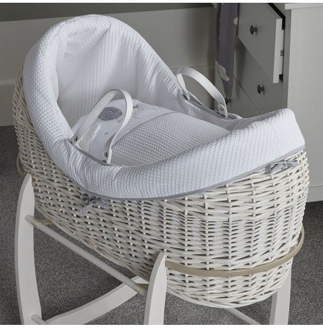 Clair De Lune White Wicker Wrapover Noah Pod - Over The Moon Grey