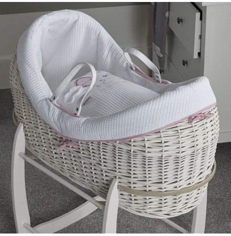 Clair De Lune White Wicker Wrapover Noah Pod - Over The Moon Pink