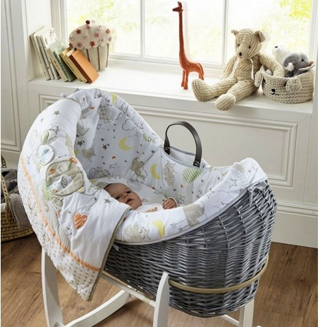 Clair De Lune Grey Wicker Wrapover Noah Pod - Sleep Tight