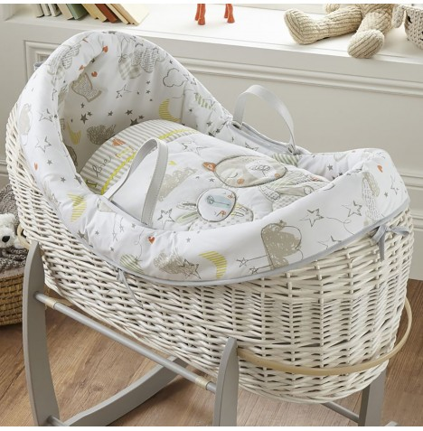 Clair De Lune White Wicker Wrapover Noah Pod - Sleep Tight