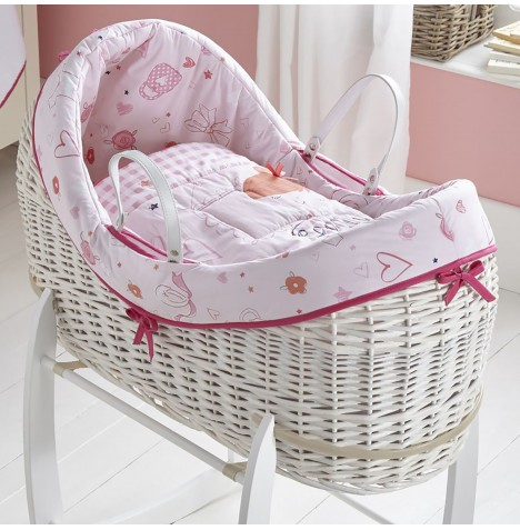 Clair De Lune White Wicker Wrapover Noah Pod - Tippy Toes