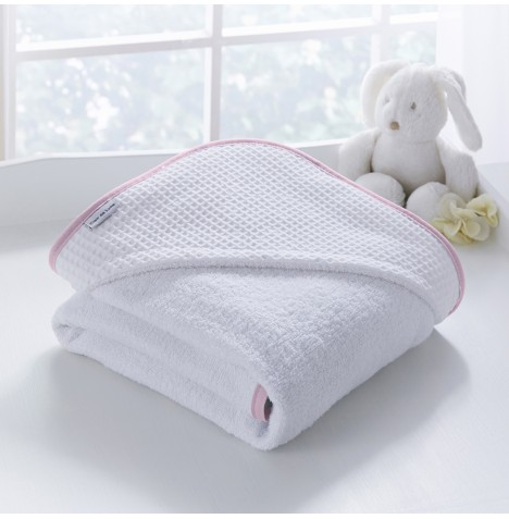 Clair De Lune Luxury Hooded Towel - Over The Moon Pink