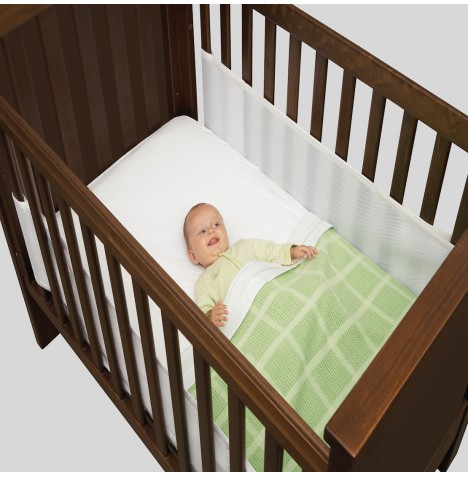 Airwrap Mesh 2 Sided Cot / Cot Bed Bumper - White
