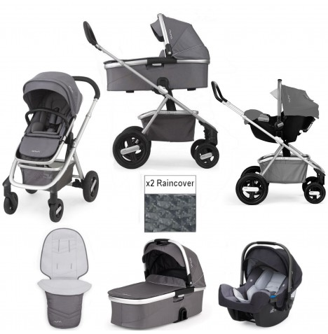 Nuna Ivvi 3 In 1 Pram / Pushchair Travel System - Graphite