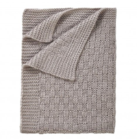 Clair De Lune Sparkle Knit Pram Blanket - Grey