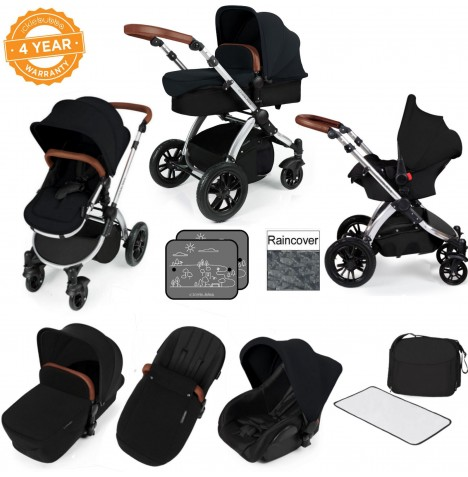 ickle bubba Stomp V2 All In One Travel System - Black..