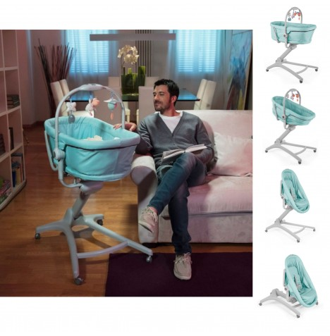 Chicco 4in1 Baby Hug Crib / Seat - Aquarelle
