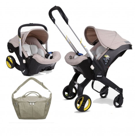 Doona Infant Car Seat / Stroller With Changing Bag - Dune