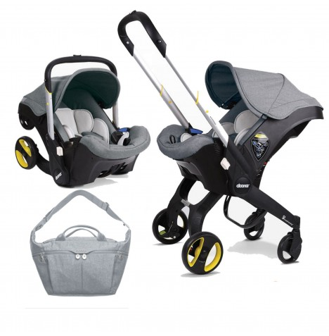 Doona Infant Car Seat / Stroller With Changing Bag - Storm Grey
