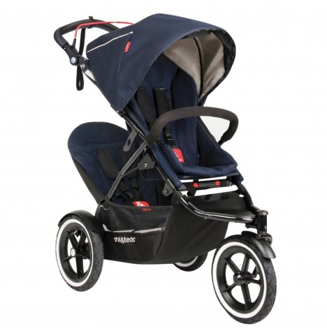Phil & Teds Sport Autostop Tandem Pushchair - Midnight Blue