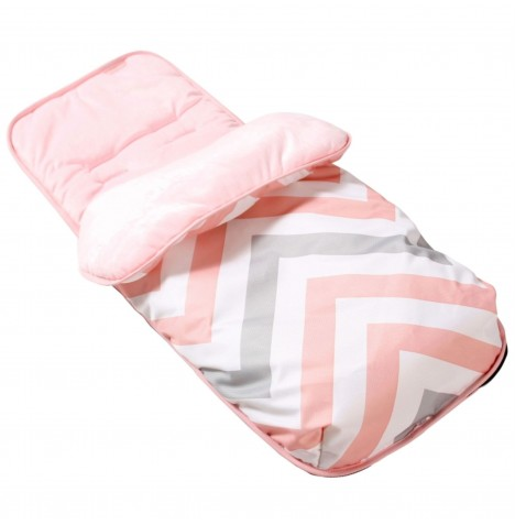 My Babiie Footmuff / Cosytoes - Pink Chevron