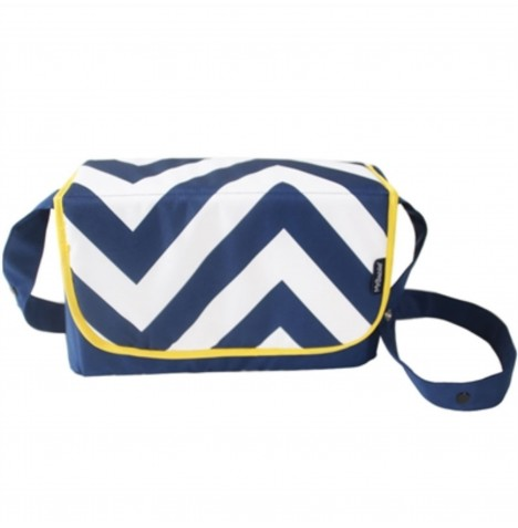 My Babiie Changing Bag - Blue Chevron