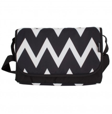 My Babiie Changing Bag - Black & White Chevron
