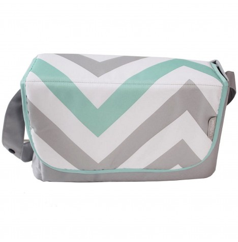 My Babiie Changing Bag - Mint Chevron