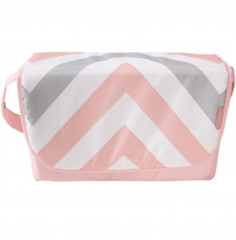 My Babiie Changing Bag - Pink Chevron