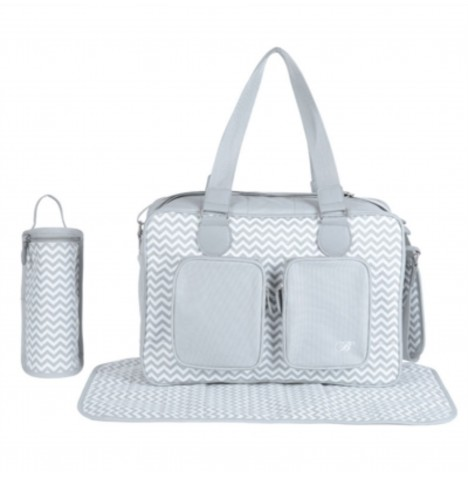 My Babiie Deluxe Changing Bag *Billie Faiers Collection* - Grey Chevron