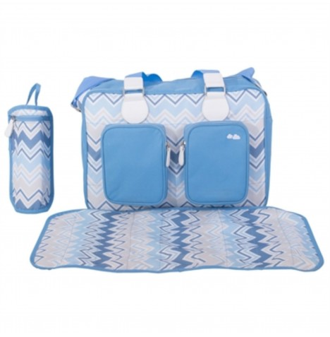 My Babiie Deluxe Changing Bag *Samantha Faiers Collection* - Blue Chevron