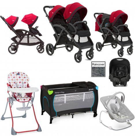Joie Evalite Duo Everything You Need Gemm Travel System Bundle - Cherry