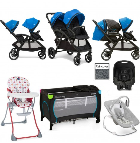 Joie Evalite Duo Everything You Need Gemm Travel System Bundle - Bluebird