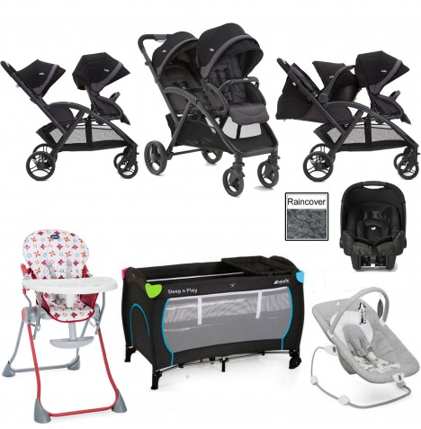 Joie Evalite Duo Everything You Need Gemm Travel System Bundle - Two Tone Black
