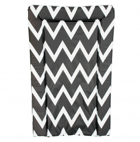 My Babiie Changing Mat - Black & White Chevron