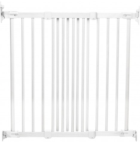 Babydan Super Flexi Fit Wooden Safety Gate - White (69 - 106.5cm)