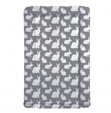 My Babiie Changing Mat - Grey Rabbits