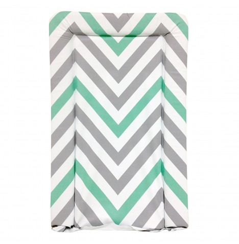 My Babiie Changing Mat - Mint Chevron
