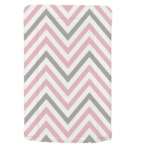 My Babiie Changing Mat - Pink Chevron