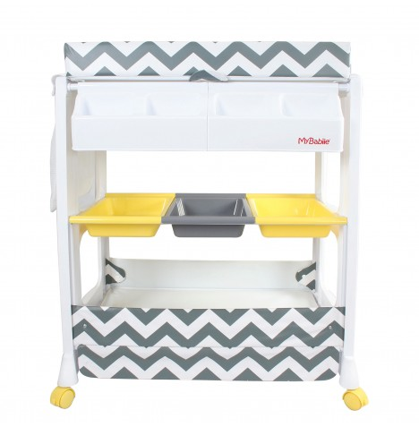 My Babiie Baby Bath U0026 Changing Unit   Grey Chevron