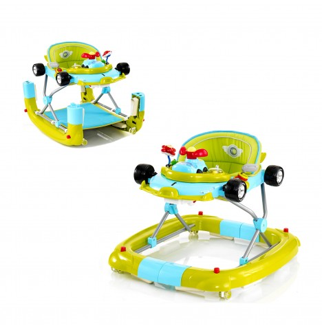My Child F1 3 in 1 Musical Car Walker / Rocker - Go Go Green
