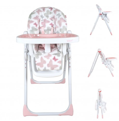 My Babiie MBHC8 *Katie Piper Collection* Premium Highchair - Pink Butterflies