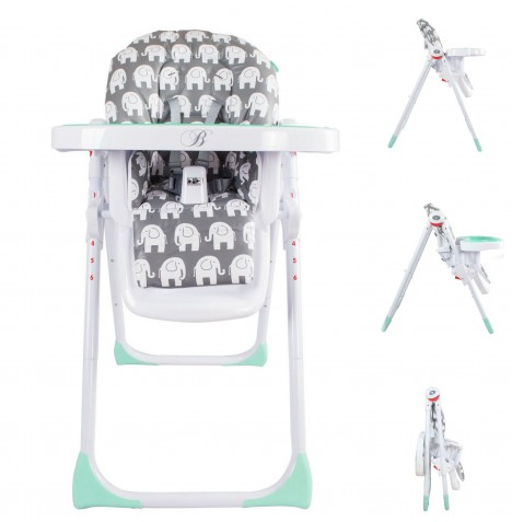 My Babiie MBHC8 *Billie Faiers Collection* Premium Highchair - Elephants