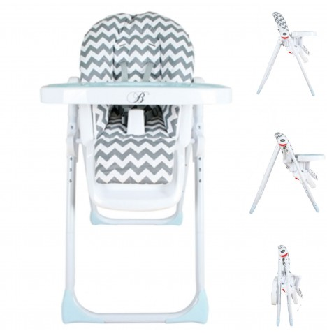 My Babiie MBHC8 *Billie Faiers Collection* Premium Highchair - Slate Chevron