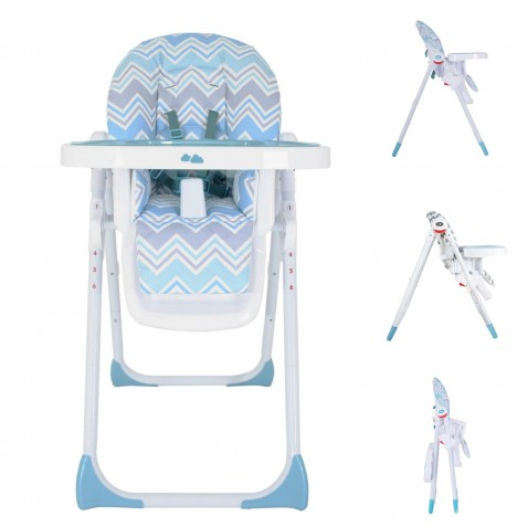 My Babiie MBHC8 *Sam Faiers Collection* Premium Highchair - Aqua Chevron