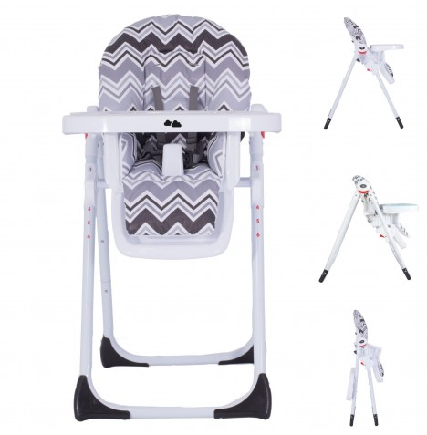My Babiie MBHC8 *Sam Faiers Collection* Premium Highchair - Charcoal Chevron