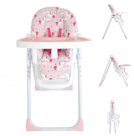 My Babiie MBHC8 *Katie Piper Collection* Premium Highchair - Pink Unicorns