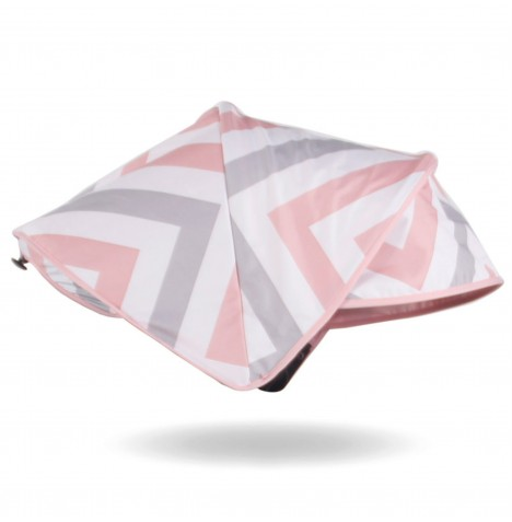 My Babiie Replacement Hood For MB150 Pushchair - Pink & Grey Chevron