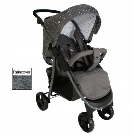 My Babiie MB30 Pushchair *Katie Piper Believe Range* - Grey Triangles