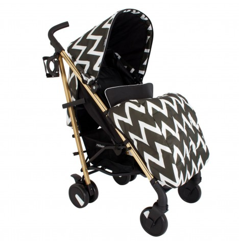 My Babiie MB51 Stroller - Gold Edition Chevron