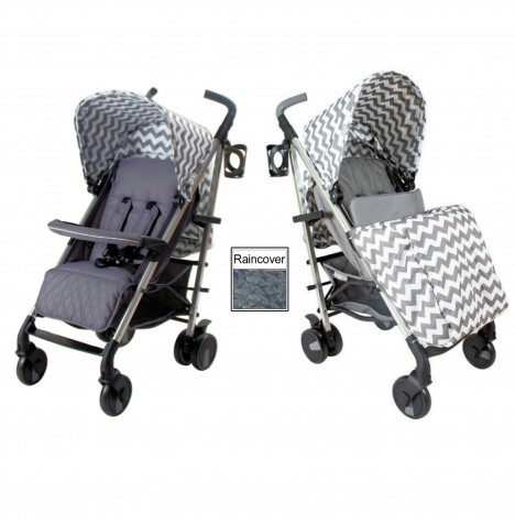 My Babiie MB51 Stroller *Billie Faiers Collection* - Slate Grey Chevron