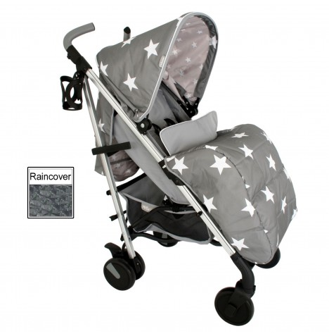 My Babiie MB51 Stroller *Billie Faiers Collection* - Grey Stars