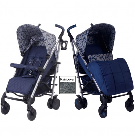 My Babiie MB51 Stroller *Katie Piper Collection* - Navy Hearts