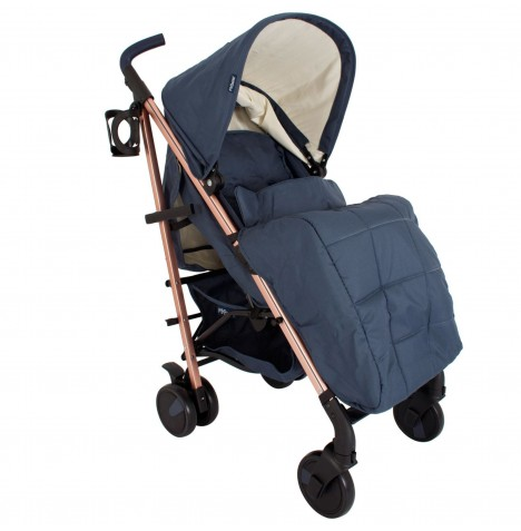 My Babiie MB51 Stroller *Billie Faiers Collection* - Rose Gold & Navy