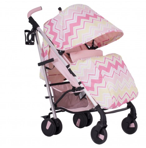 My Babiie MB51 Stroller *Sam Faiers Collection* - Pink Chevron