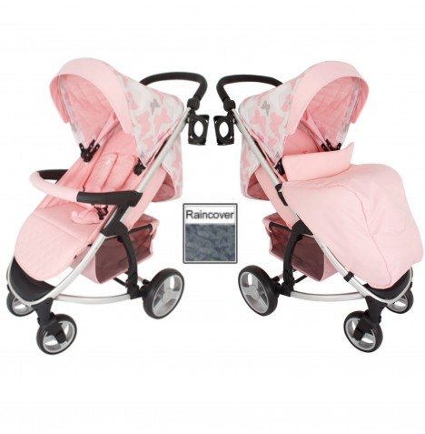 My Babiie MB200 Pushchair *Katie Piper Believe Collection* - Pink Butterflies