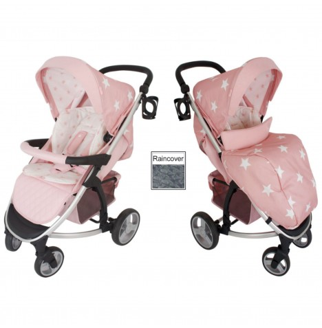 My Babiie MB200 Pushchair - Pink Stars